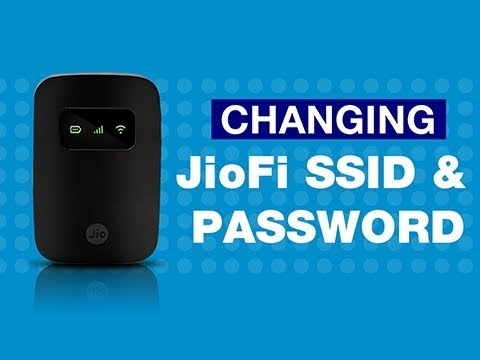 How to Change JioFi Name (SSID) and Password?
