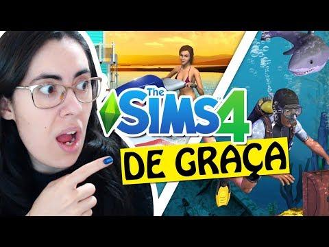 """THE SIMS 4 DE GRAÇA E """"NOVA EXPANSÃO ISLAND PARADISE"""""""