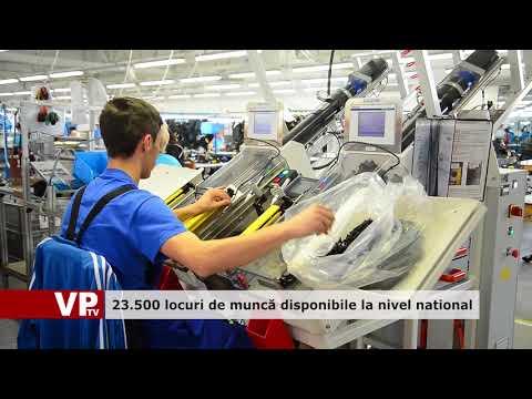23.500 de locuri de muncă disponibile la nivel național