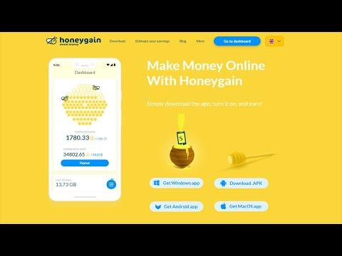 Honeygain.com - Зарабатывай от 20 Долларов в неделю