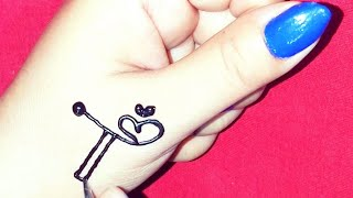 T Letter Tattoos  Mehndi