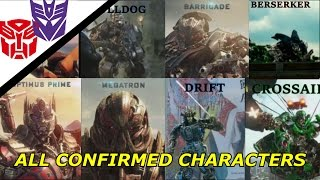 Transformers The Last Knight All Confirmed Characters Autobots And Decepticons So Far