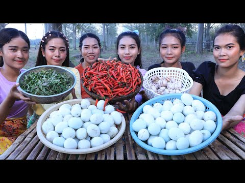 Wow amazing cooking egg duck boiled with chili sauce recipe