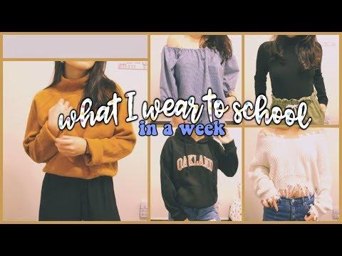 👗👠 TRÂN MẶC GÌ ĐẾN TRƯỜNG TRONG MỘT TUẦN ✨ What I Wear To School OOTW 🌷| Diane Le