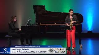 Ana Parejo Belando plays Chant du Ménestrel opus 71 by Alexander GLAZUNOV