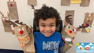Kids Fun & Easy Christmas 2018 Crafts! Rudolph The Red Nose Reindeer! Craft Of The Month