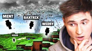 DOKÁŽEME PŘEŽÍT TORNÁDO? - Minecraft w/ MenT, Wedry, House