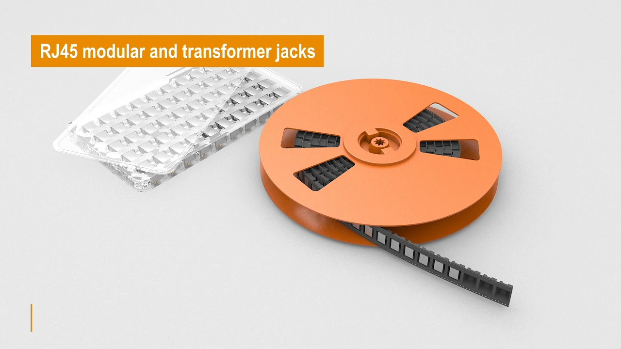 RJ 45 modular and transformer jacks for data transmission up to 10 Gbit/s