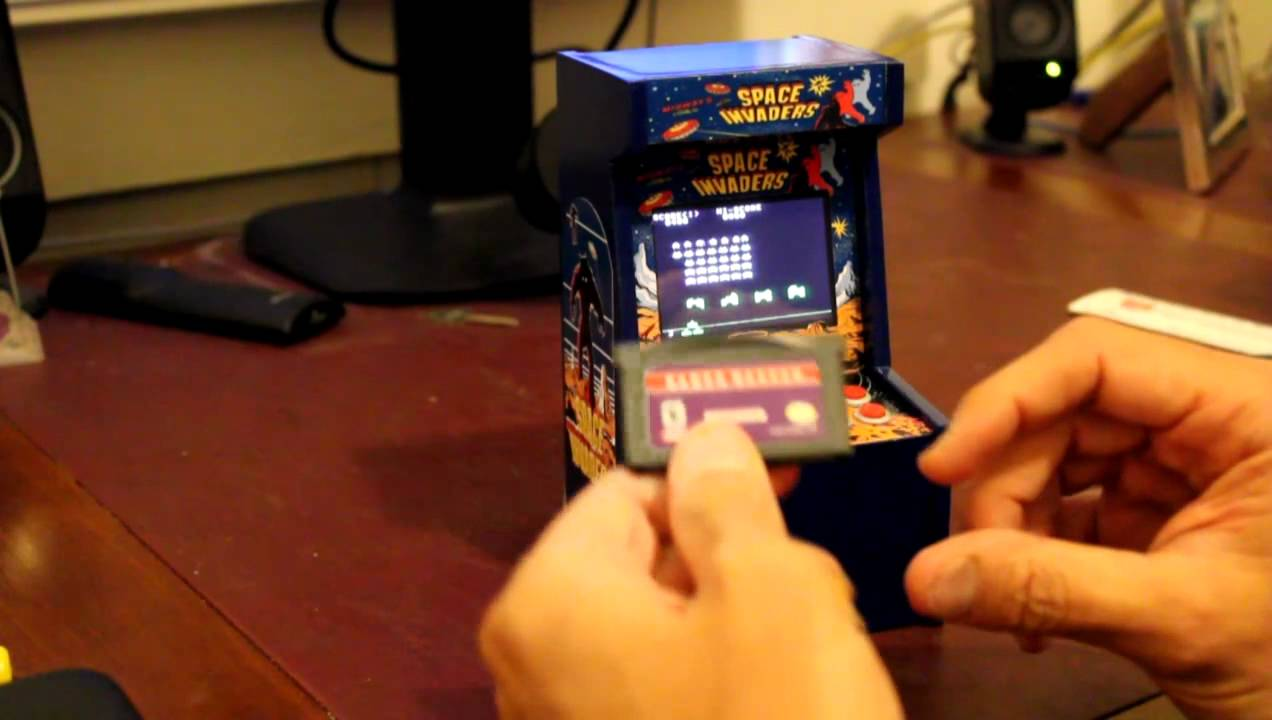 The World's Smallest Functioning Space Invaders Cabinet