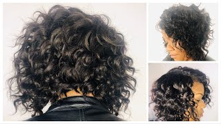 I Tried Doing A Curly Bob Quick Weave Like Diary Of A Hairstylist