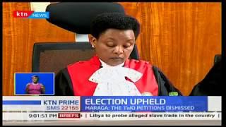 Election Upheld:Uhuru Kenyatta's victory upheld by the supreme court