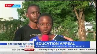 A pair of orphaned twins appeal to Kenyans for help