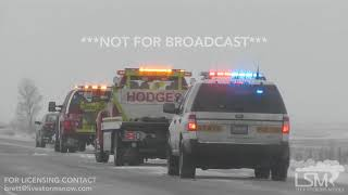 01-22-19 Galesburg/Woodhull Illinois I-74  Vehicles and Trucks Flipped and Slid off Road