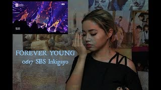 Reaction To FOREVER YOUNG 0617 SBS Inkigayo   BLACKPINK