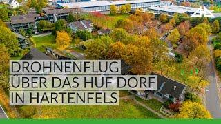 Überflug über das HUF Dorf in Hartenfels. Entdecken Sie die Musterhäuser live!