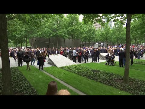 The National September 11 Memorial & Museum dedicated an new memorial Thursday to honor anyone who developed an illness or died after being exposed to dust and smoke released in the collapse of the World Trade Center towers. (May 30)