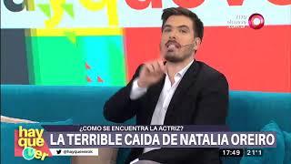 Así  fue la terrible caída de Natalia Oreiro