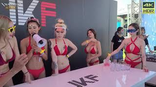 Taiwanese Bikini Models Playing Beer Pong