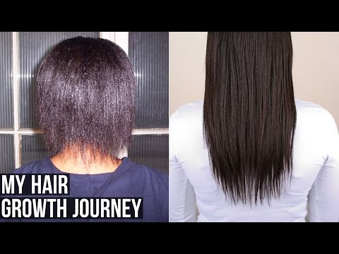 Video My Hair Growth Journey┃Relaxed Hair