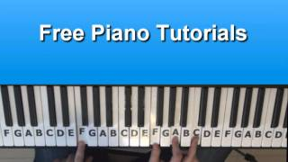 How To Play Falling In Love  - Taio Cruz On Piano - Tutorial