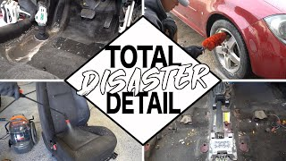 Disaster Car Detailing | Cleaning Dirtiest Car Interior and Exterior Car Detailing!