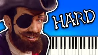 YOU ARE A PIRATE From LazyTown - Piano Tutorial
