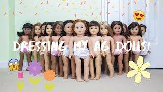 Dressing My AG Dolls!! Spring Edition :)