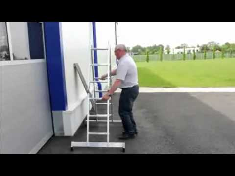 Escalera multiusos de aluminio