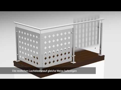 Montageanleitung Lochblech-Geländer