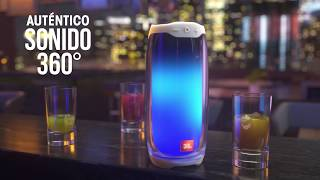 YouTube Video BinIjujEB4E for Product JBL Pulse 4 Wireless Party Speaker with LED Lighting by Company JBL in Industry Speakers