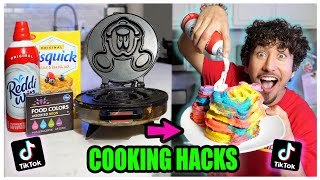 We TASTED Viral TikTok Cooking Life Hacks... (THIS CANT BE REAL...) *Part 11*
