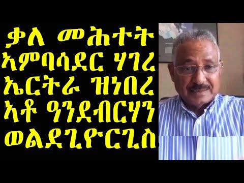 ቃለ መሕተት ምስ ፕረዚደንት ኣስመራ ዩኒቨርስቲን ኣመሓዳሪ ባንክ ኤርትራን ነበር ኣቶ ዓንደብርሃን ወልደግዮርጊስ | Eritrean news 2020