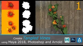 Create Tangled Vines in Maya 2018, Photoshop and Arnold (1/3)