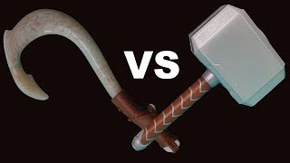 Thors Hammer Vs Mauis Fish Hook Challenge, 3 Year Old Toy Comparison