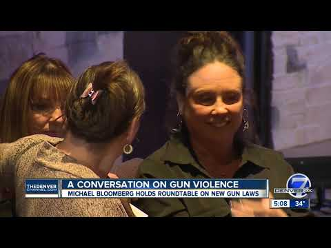 Michael Bloomberg unveils anti-gun violence policy at Aurora town hall