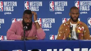 James Harden & Chris Paul Postgame Interview   Rockets vs Warriors Game 3 - Video Youtube
