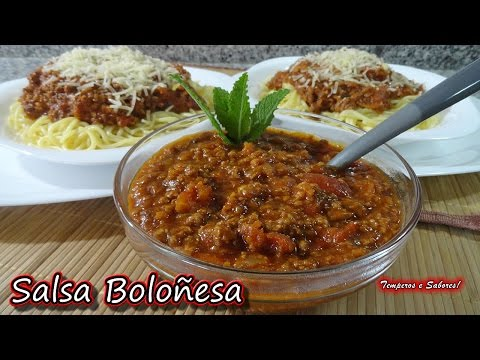 SALSA BOLOÑESA receta rápida de Temperos e Sabores
