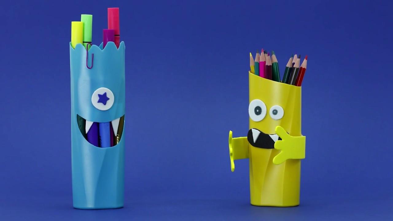 Mundo Leo&Leo #1: Porta-lápis de Monstrinho
