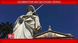 Pape François-Célébration des secondes Vêpres 2020-01-25
