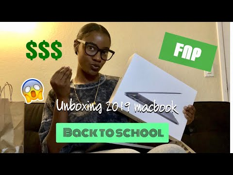 """2019 MacBook Pro 13"""" With Touch Bar UNBOXING For Grad School #FNPStudent #RN"""