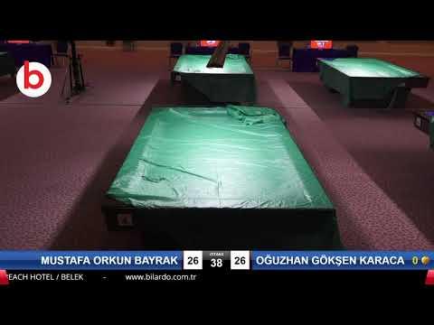 MUSTAFA ORKUN BAYRAK & OĞUZHAN GÖKŞEN KARACABEY Bilardo Maçı - 2020 TK 1.ETAP ANTALYA-5.ÖN ELEME