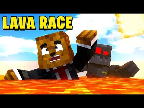 SUPER OG MINECRAFT LAVA RACE PVP w/ GRASER (Lava Run Parkour) | JeromeASF
