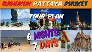 Phuket Pattaya Bangkok Tour Package