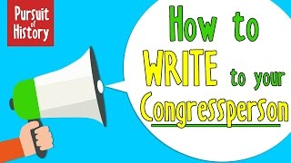 How to Write to your Congressperson