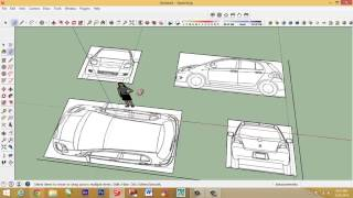 Google sketchup tutorial building a car from blueprints most how to make car with sketchup setting car blueprint malvernweather Images
