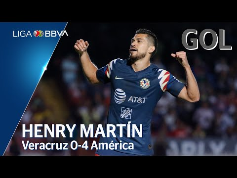 Gol de H. Martín | Veracruz 0 - 4 América | Liga BBVA MX - Apertura 2019  - Jornada 18