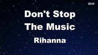 Don't Stop The Music   Rihanna Karaoke 【No Guide Melody】 Instrumental