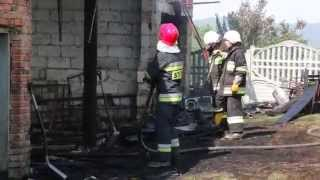 Przybówka - Pożar budynku gospodarczego