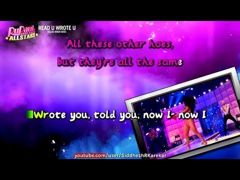 RuPaul All stars 2 - Read U Wrote U (Instrumental / karaoke) with lyrics
