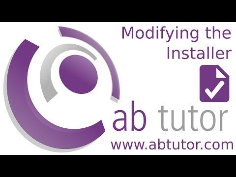 Modifying the AB Tutor installer settings v9